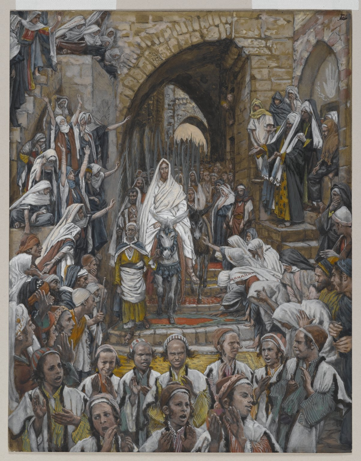 Jesus procession in the streets of Jerusalem